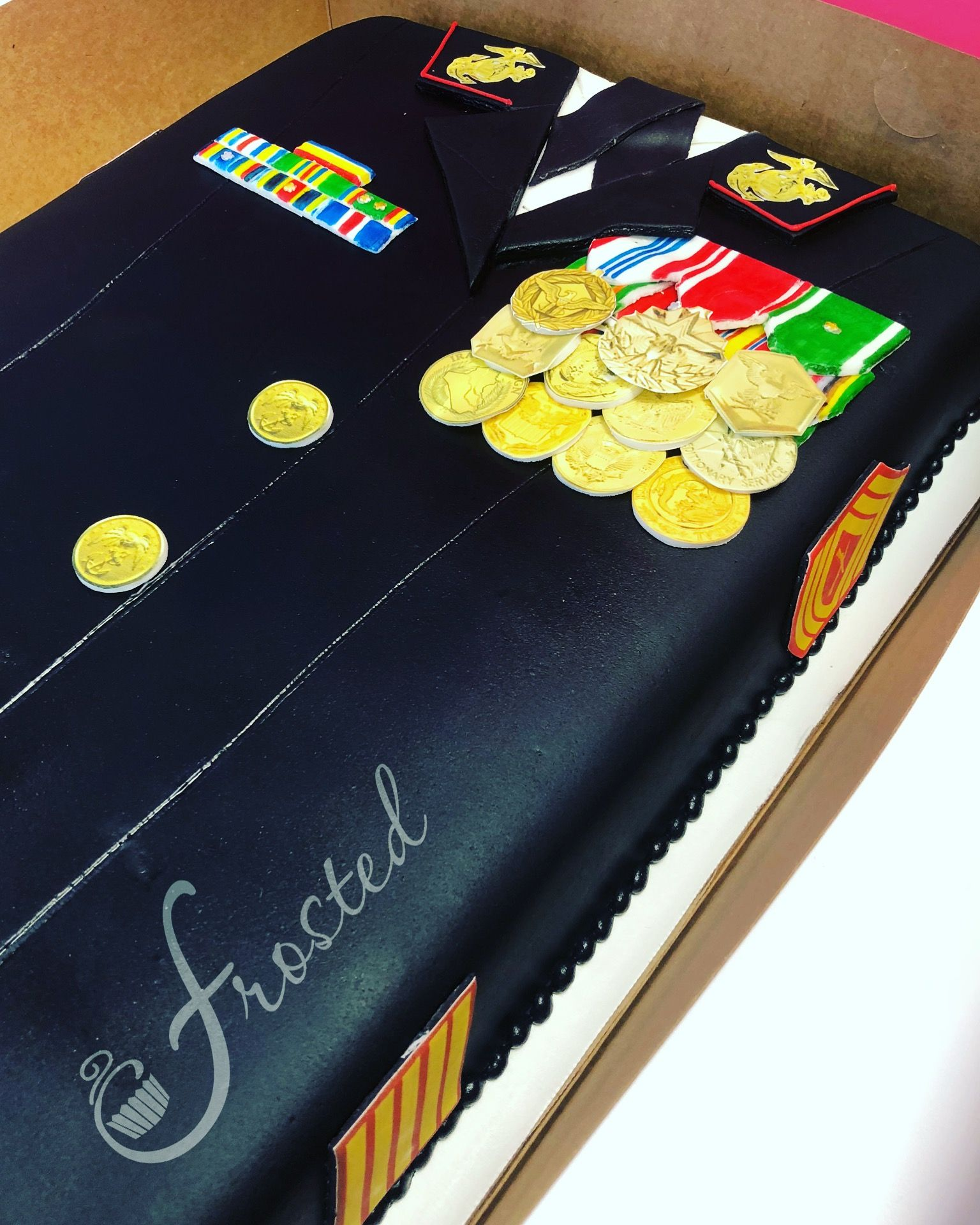 Military Retirement Cake Dress Blues Military cake