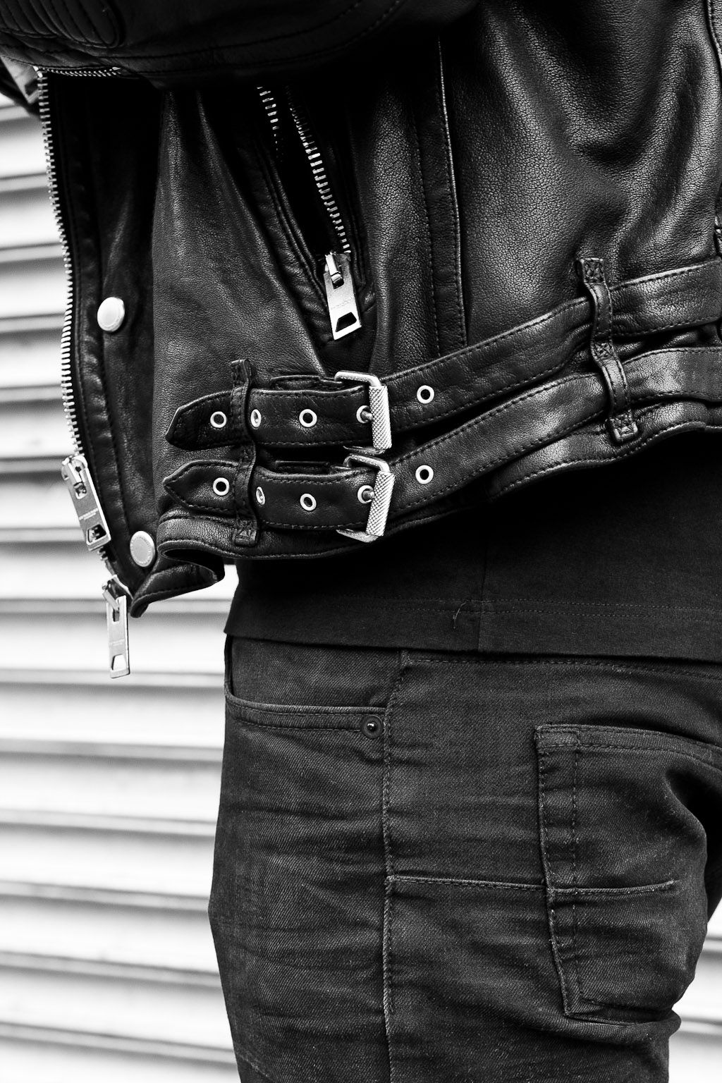 Leather jacket aesthetic - Burberry Brit Biker Biker Jacketsleather