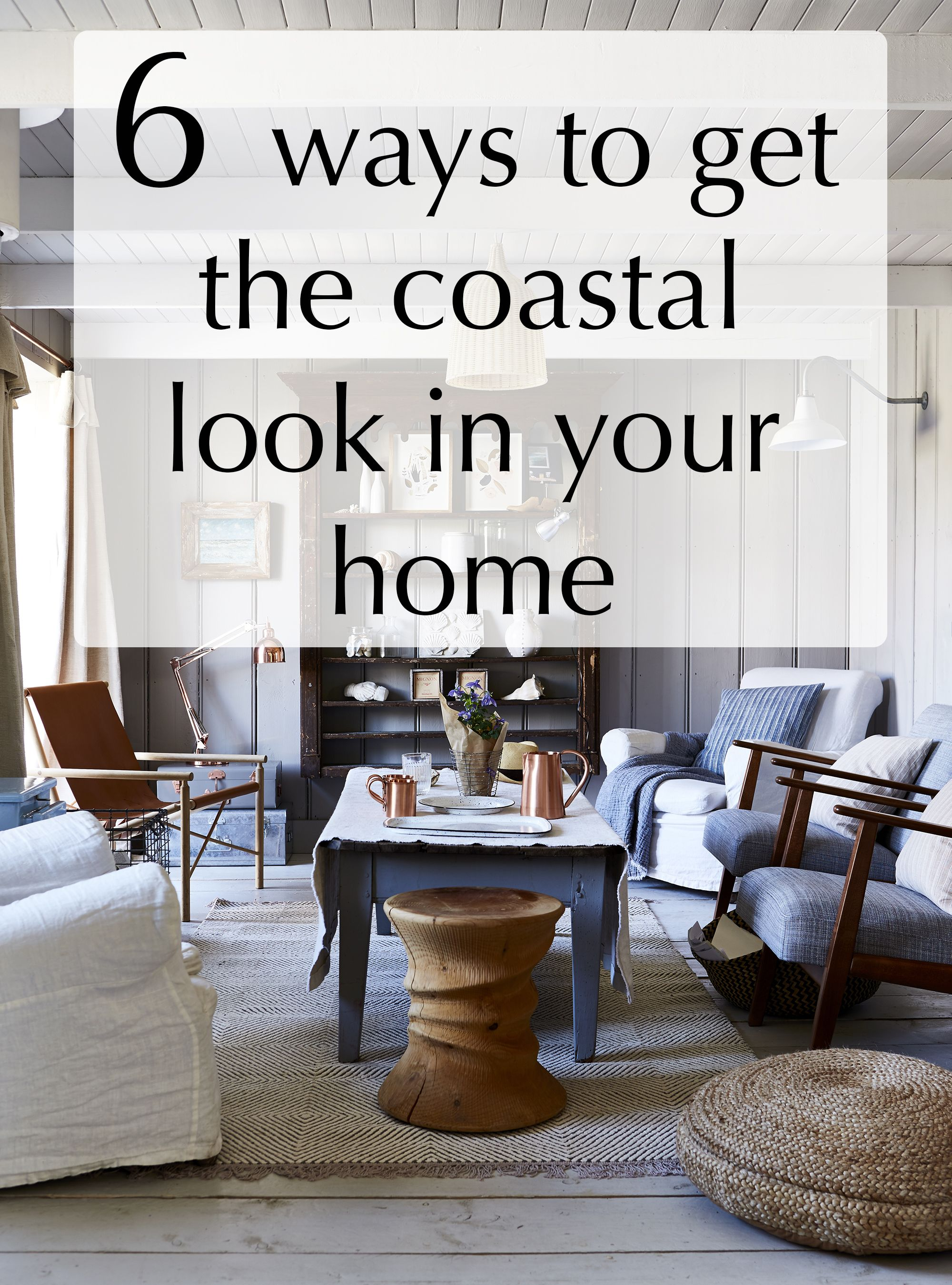 Even if you don't live by the sea, it doesn't mean that you can't enjoy a coastal themed home. Mixing pieces in beautifully weathered materials that evoke the worn textures and faded colours of shoreline finds with simple rustic accessories makes for an original take on the coastal look. We were inspired by this beautiful home in Camber Sands, East Sussex and its authentic coastal interior. This is how the owners achieved their look...
