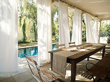 Outdoor Curtains. Thinking Someday I Would Like These On My Patio To Extend  Our Outdoor