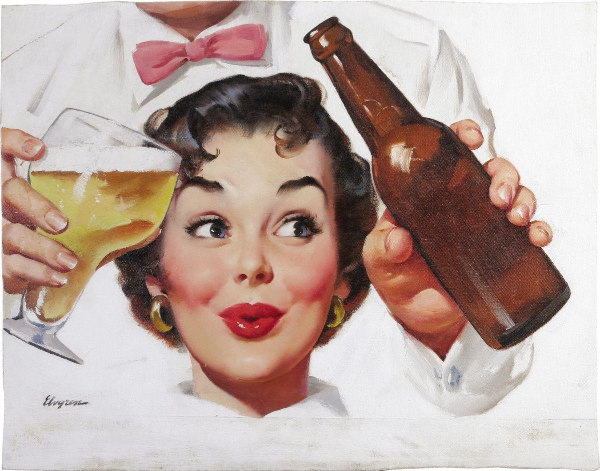 Открытки, открытка пьяные женщины