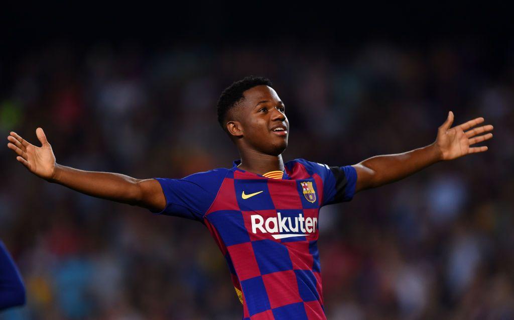 Barcelonas Ansu Fati Called Up To Spains Under 21 Squad Barcelona Bojan Krkic Lionel Messi