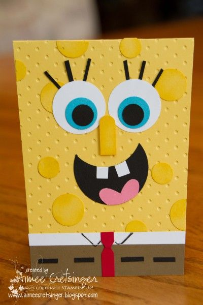 Spongebob Birthday Masculine Card Birthday Cards For