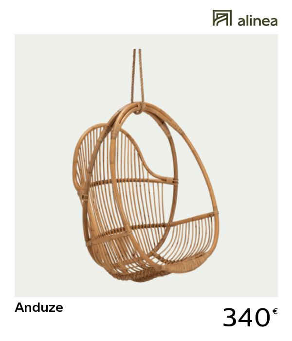 Alinea Decoration Anduze Fauteuil A Suspendre En Rotin
