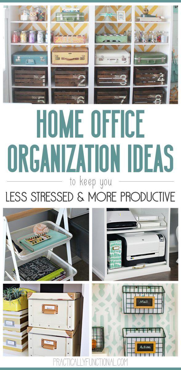 21 Super Simple Home Office Organization Ideas Home