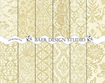 Gold Photography Background Digital Paper, Metallic Gold ...