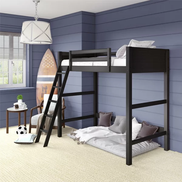 Zuniga Twin Loft Bed In 2020 Loft Bed Frame Low Loft Beds Bed