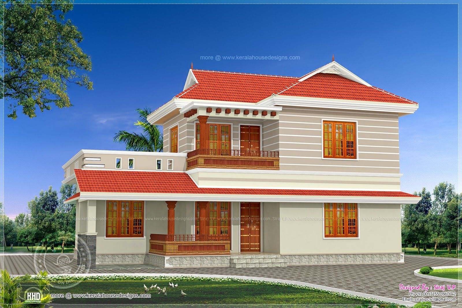 Design Square Yards Kerala Home And Floor Plans Front Elevation Kanal House Drawing Layout House Balcony Design House Design Drawing Low Cost House Plans