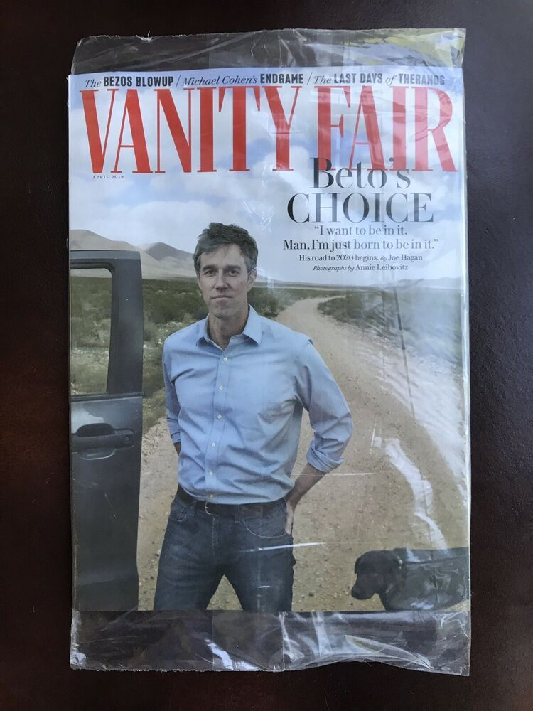 Vanity Fair April 2020.Vanity Fair Magazine Beto O Rourke Choice Jeff Bezos Blowup