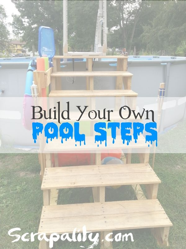 How to build pool steps using pallet wood and reclaimed - Steps to build an inground swimming pool ...