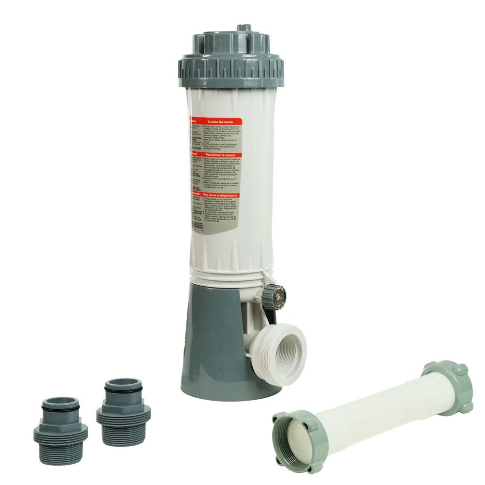 Pool Central Automatic Pool Chlorine Feeder Kit With Threaded Nut