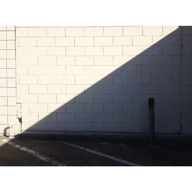 For the love of Right Angles. Parking lot with shadow, City of Industry CA. #cityofindustry #california #shadow #triangle #righttriangle #wa...