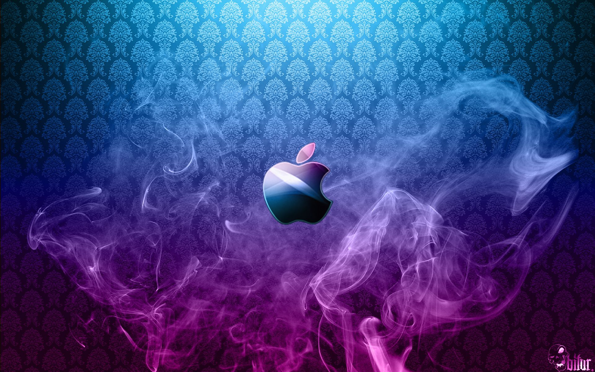 purple Smoke Blue Purple Full HD Apple Wallpapers