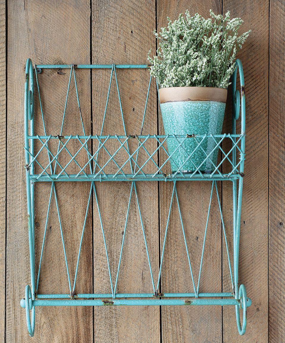 Aqua Metal Wall Shelf By Creative Co