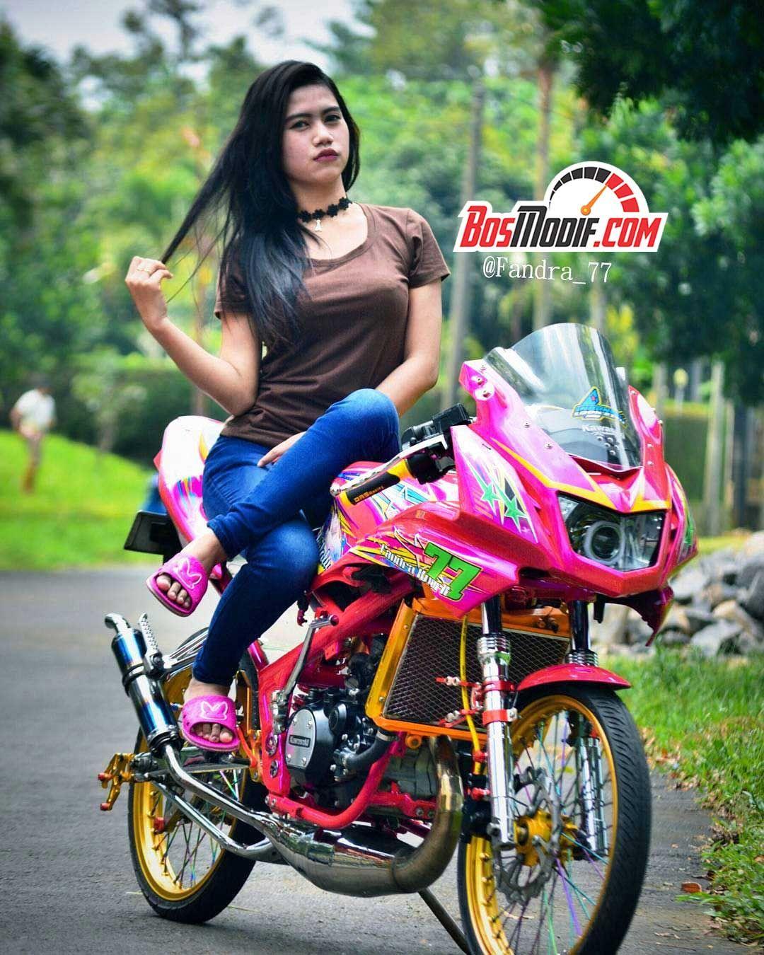 Gambar Foto Modifikasi Motor Kawasaki Ninja Dan Cewek Keren