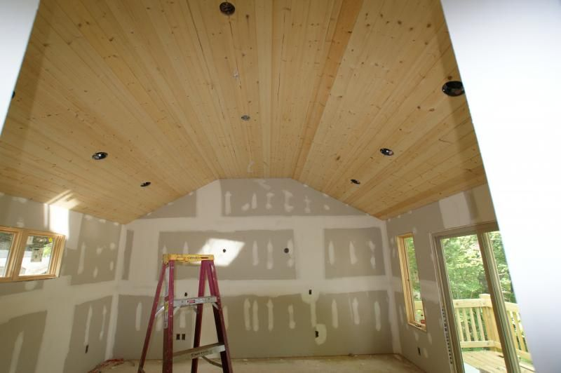 Love The Light Colored Tongue And Groove Vaulted Ceiling. It Would Match  Our Trim!
