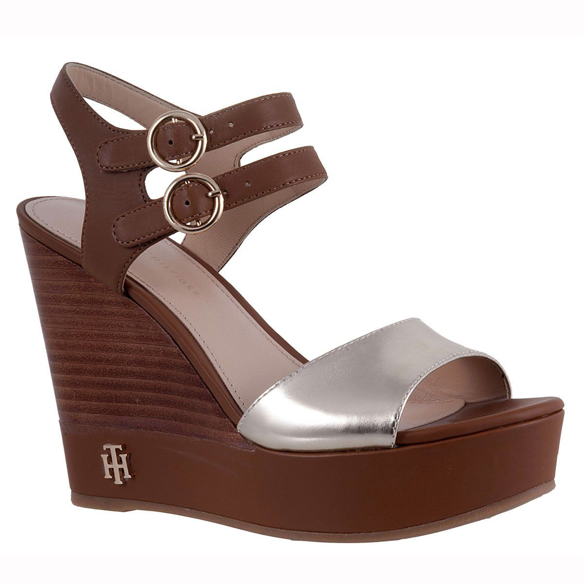 SANDALIA TOMMY HILFIGER Z Zapatos De Cuña 09c6609a3d0