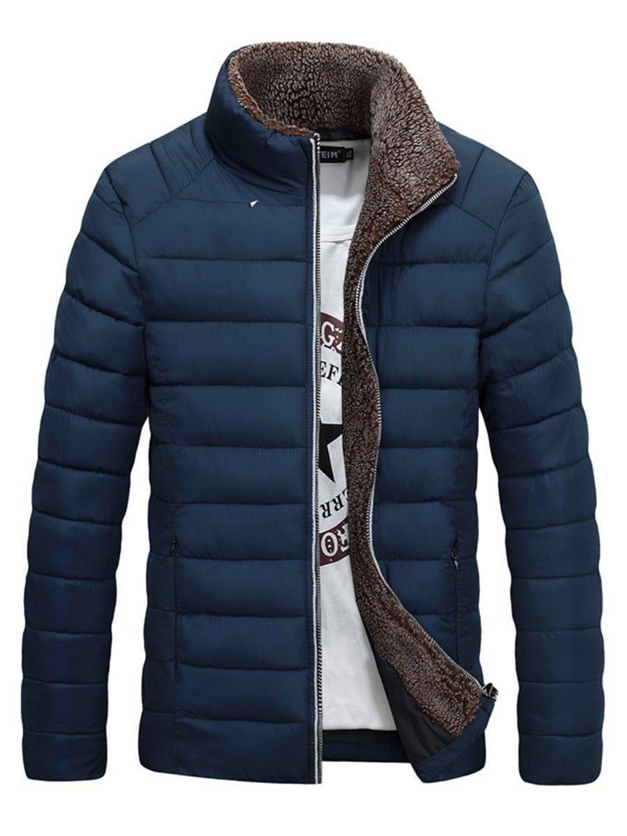 Standard Plain Stand Collar Zipper Down Jacket Dressstars In 2020 Vogue Men Mens Winter Fashion Mens Winter Coat