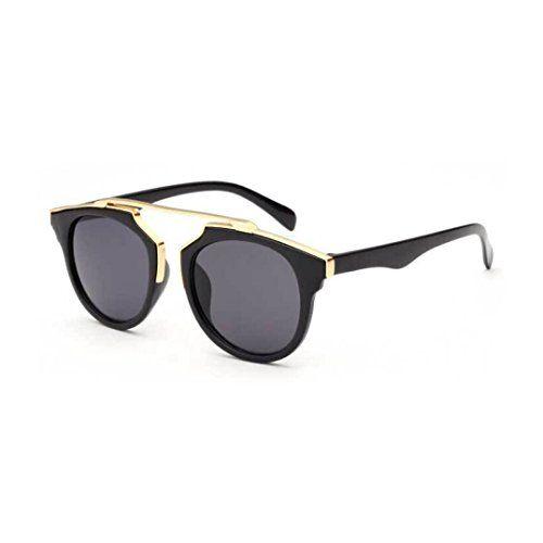Sonnenbrille Damen Sonnenbrille Schwarzes Objektiv A61MhL