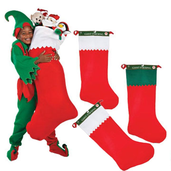 Christmas Jumbo Christmas Stockings 36 Set 4 | Balli Gifts ...