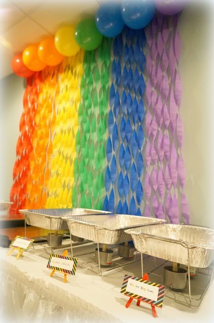 Crayola rainbow birthday party ideas photo booth for 2nd birthday decoration ideas