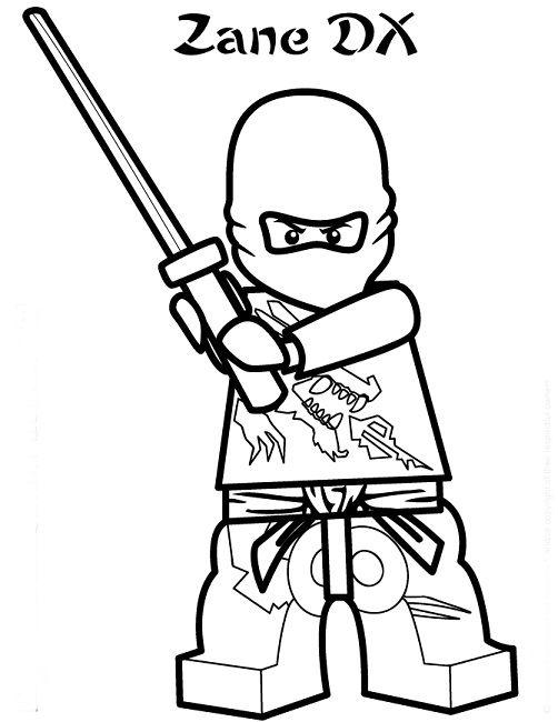 Lego Ninjago Coloring Pages Zane Maleboger Tegning Til Born