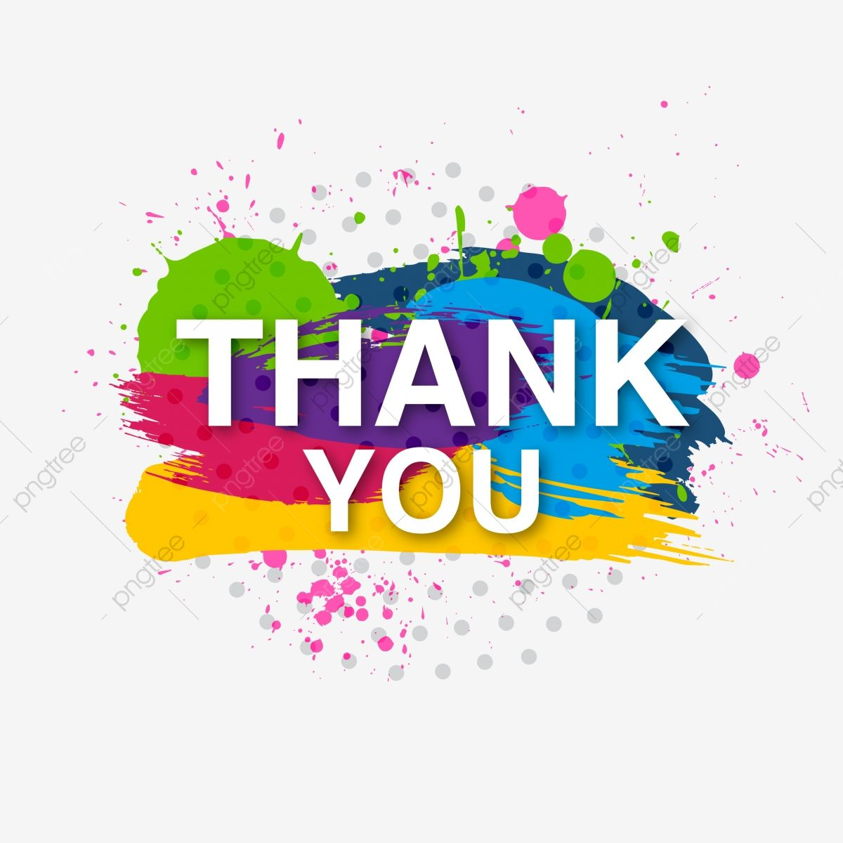 Decorative Colorful Thank You Invites Brush Splash You Thank Card Png And Vector With Transparent Background For Free Download Modern Card Design Powerpoint Background Design Paint Splash