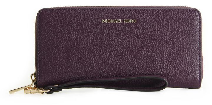 2db6d20b346d Best price on the market  MICHAEL Michael Kors Jet Set Travel Continental  Leather Wallet Michael Michael Kors Damson
