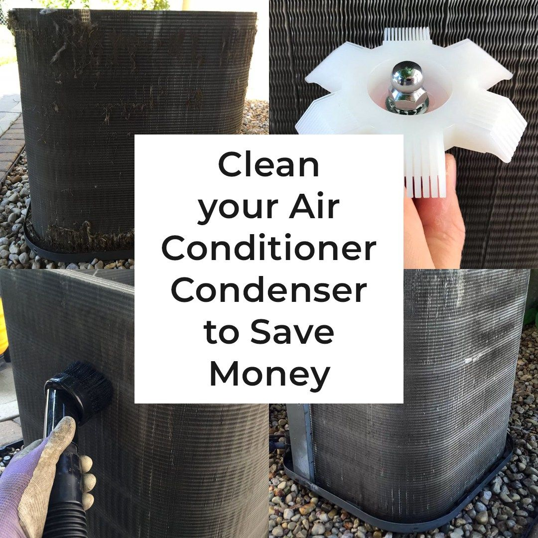 Clean your air conditioner condenser to save money with