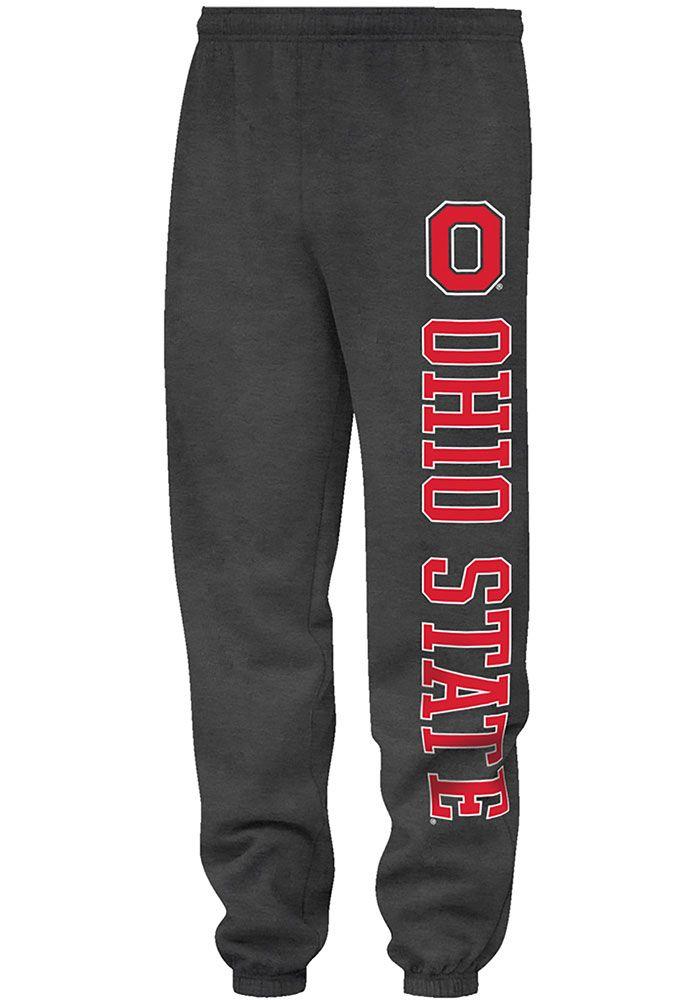 Ohio State Buckeyes Mens Black Closed Bottom Sweatpants - 16931122