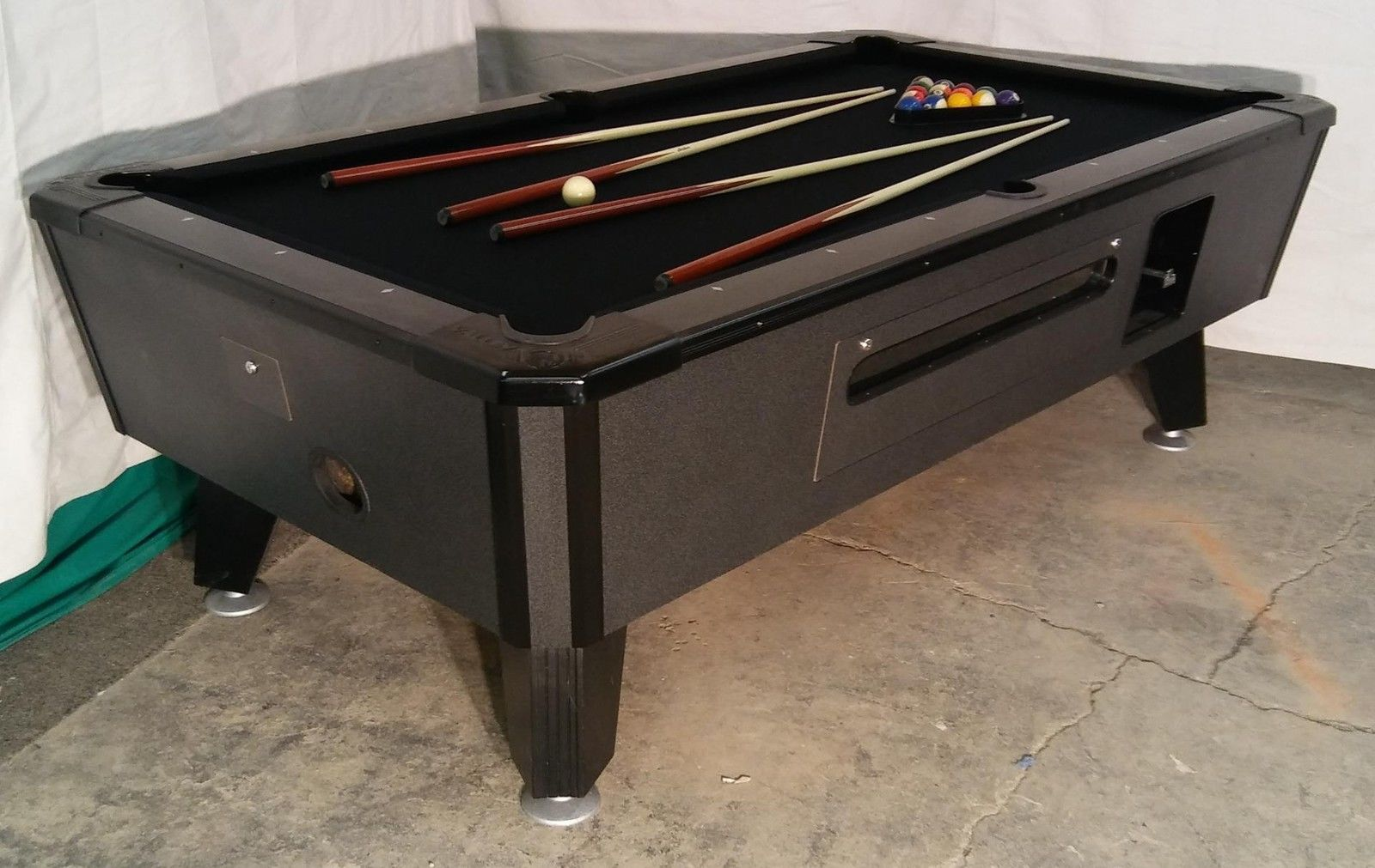 Valley cougar commercial bar size 7 coin op pool table black cat in valley cougar commercial bar size 7 coin op pool table black cat in black watchthetrailerfo