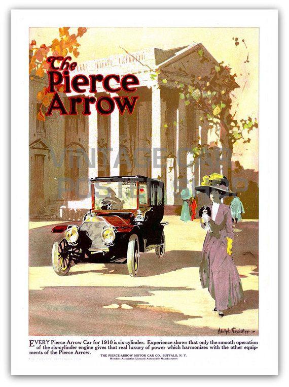 Pierce Arrow Automobile Car Advertisement Poster Print