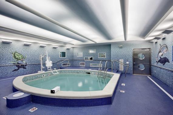 Therapy pool, Elizabeth Seton Pediatric Center, Yonkers, N.Y. ...