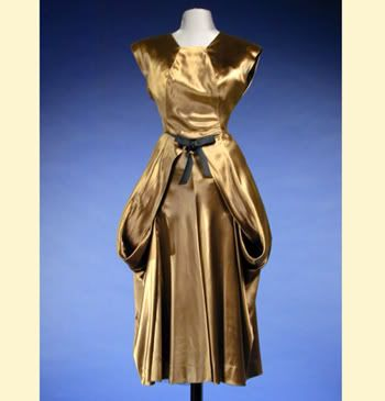 Charles James Satin Polonaise Dress American, late 1940s