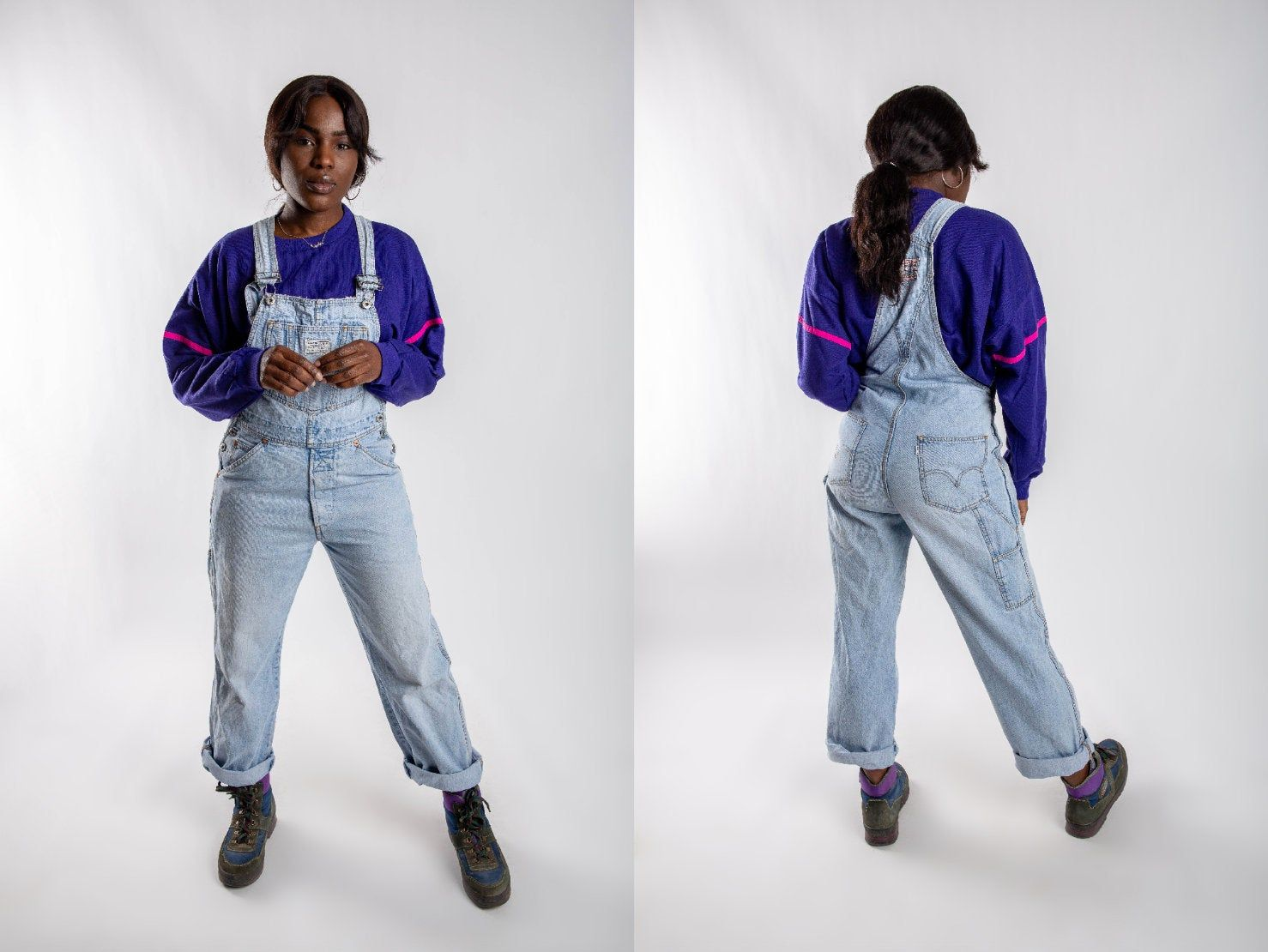 Faded Levi S Two Horse Brand Denim Dungarees 90s Etsy Denim Jacket Women Denim Dungarees Denim Women