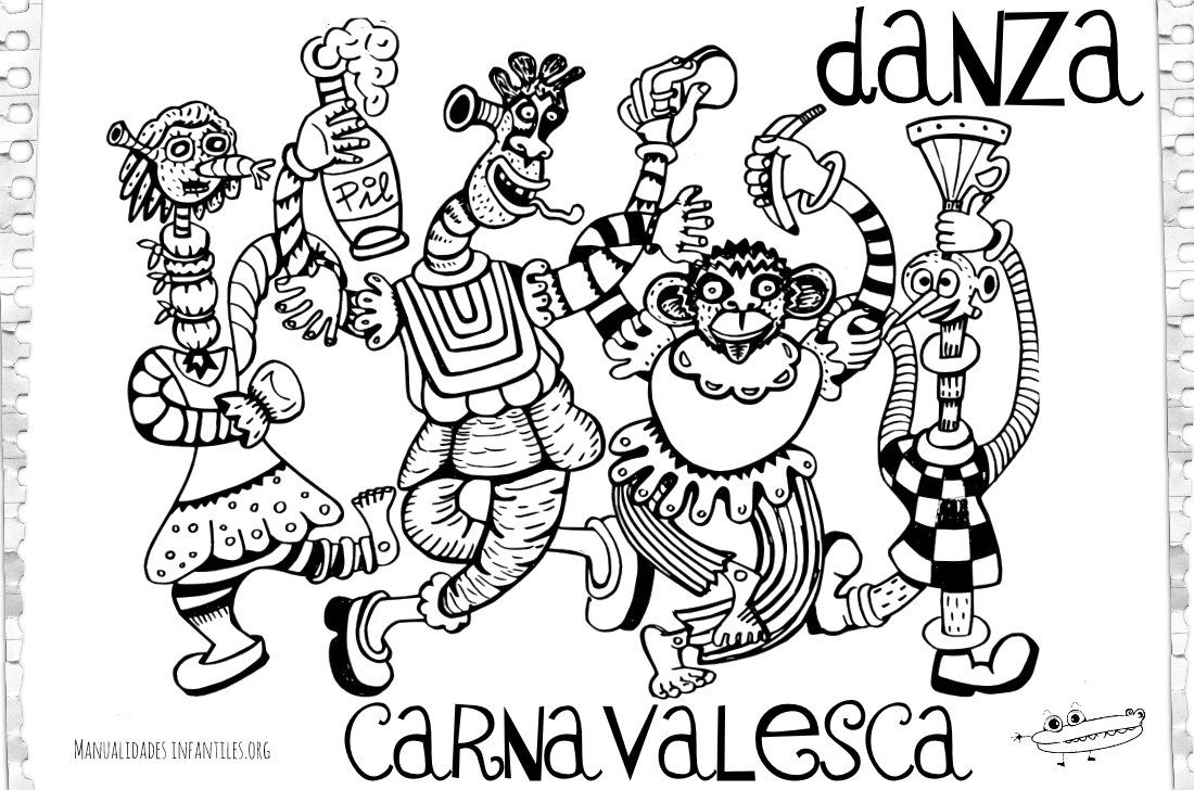 Dibujo danza carnavalesca
