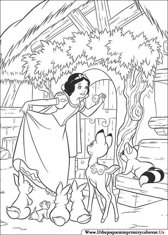 Dibujos de Blancanieves y los siete enanitos para Imprimir y ...