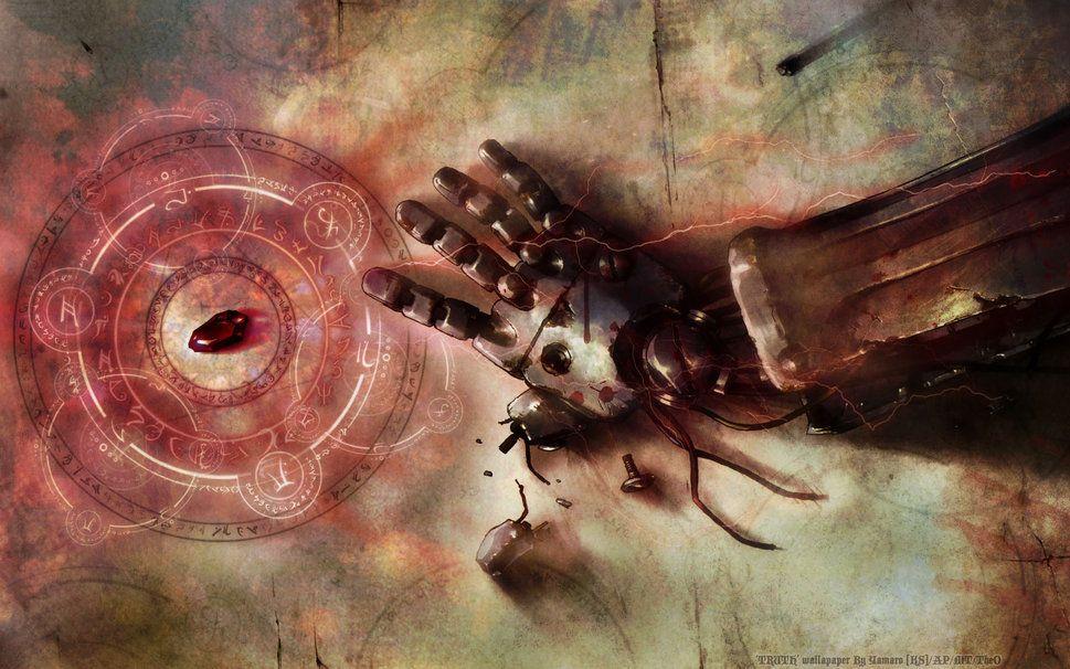 Fullmetal Alchemist Brotherhood I Love This Edward Elrics Automail Arm Philosophers Stone