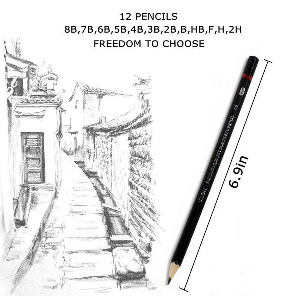 Professional Sketch and Drawing pencils set
