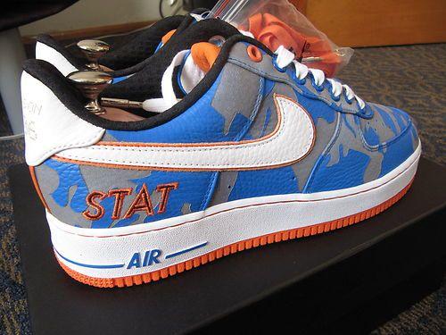hot sale online b844c 674b6 Nike Air Force 1 AMAR STAT X ON TIME sz9 super rare bespoke sample  unreleased