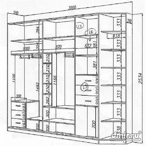 Шкаф купе 3 метра сколько дверей надо: 19 тыс изображений на.
