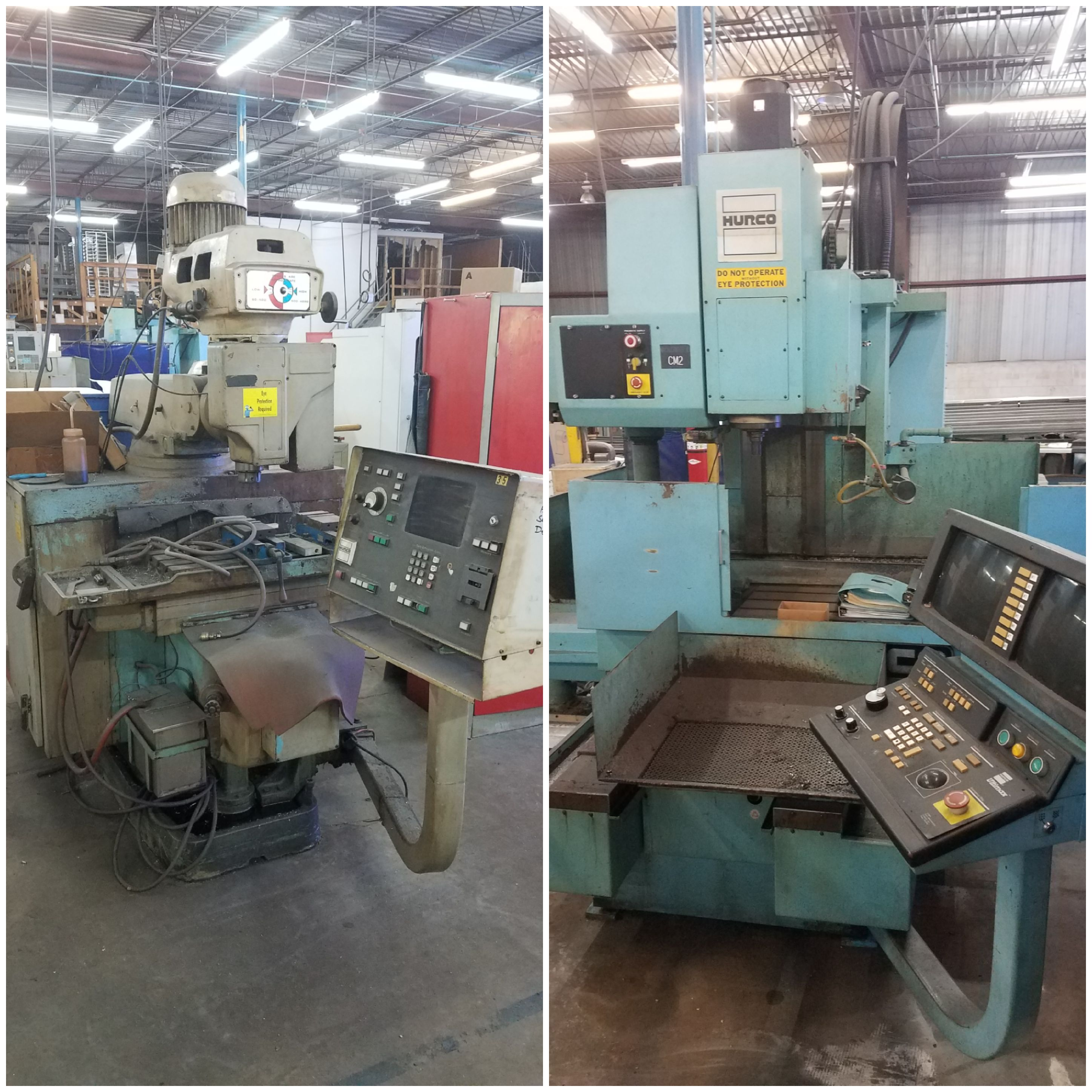 Cnc mills free to a good home we have two old hurco