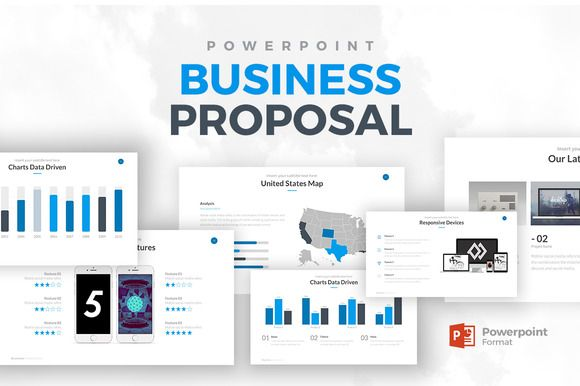 Business Proposal PowerPoint by Rocketo Graphics on - powerpoint proposal template