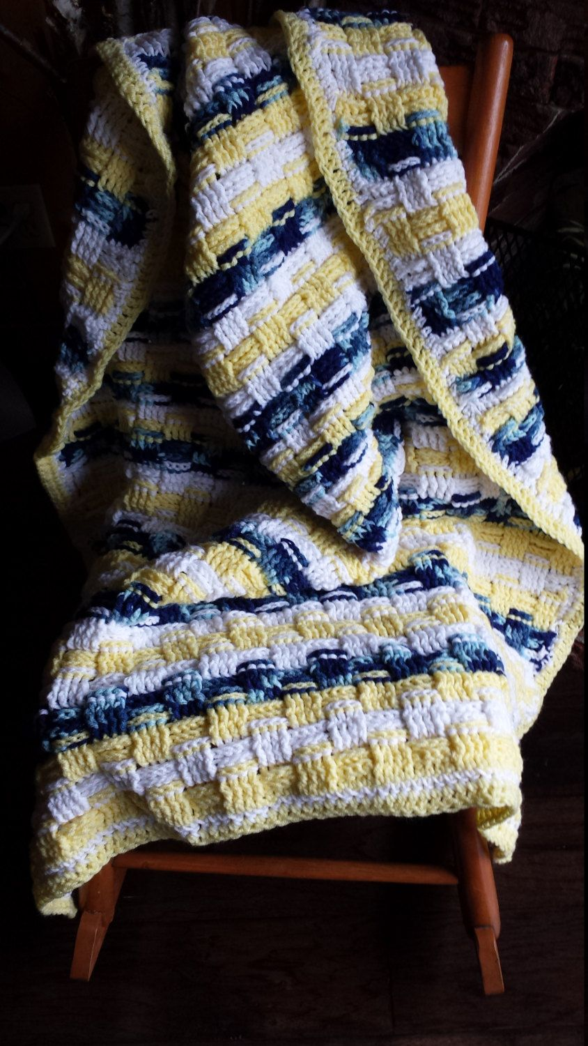 Yellow throw by LamourArts on Etsy
