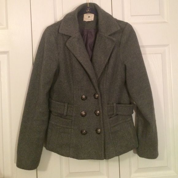 Peacoat Grey Peacoat Forever 21 Jackets & Coats Pea Coats