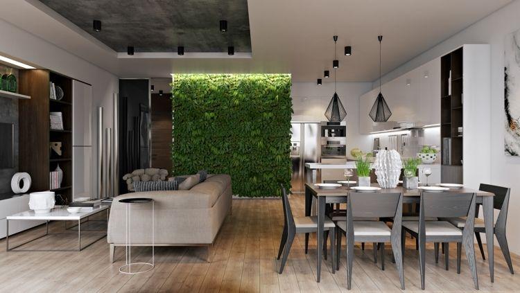 vertikaler-garten-wohnzimmer-kueche-offene-bateon-industrial-design ...