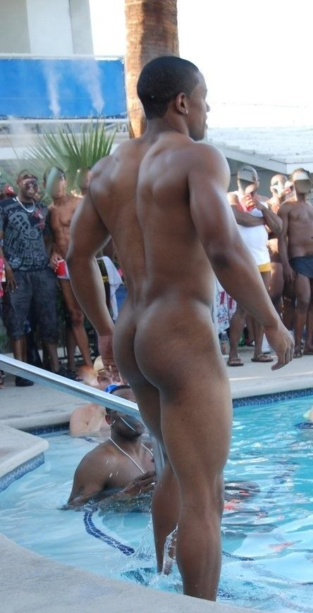 Black male exhibitionist