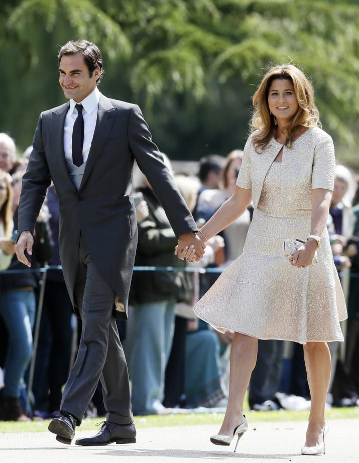 His wife Mirka was there, too. I suppose she looked lovely as well.