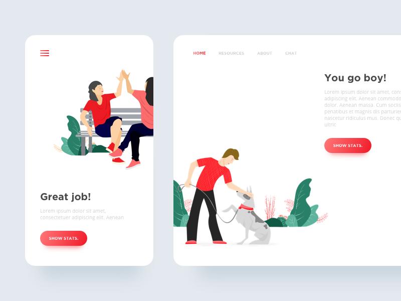 Activity Tracker app | App design, Web design inspiration