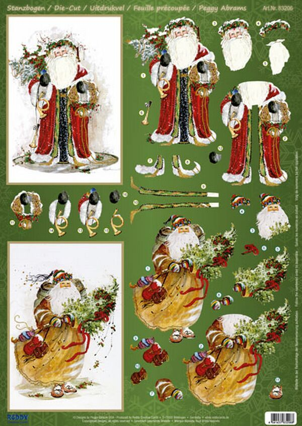 3D Old World Santa card toppers | Christmas~3DToppers & Embelies ...